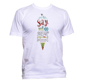 AppleWormDesign • Say Hi To New Adventures gift - Men's T-Shirt •