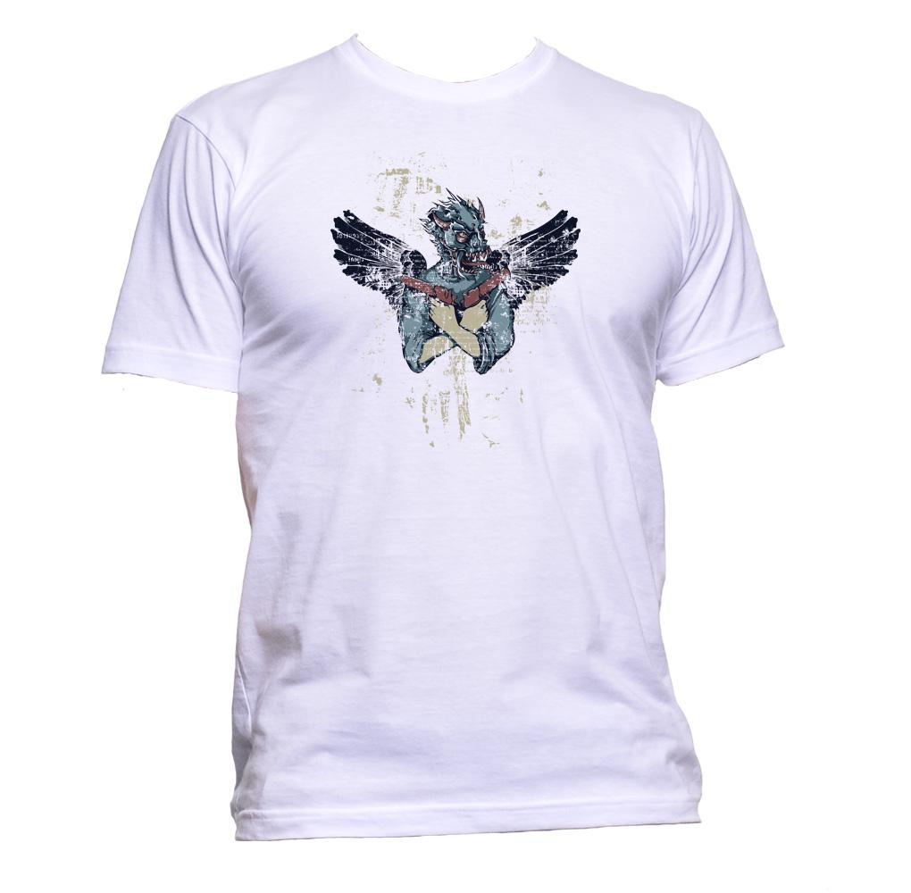AppleWormDesign • Mask And Wings Drawing gift - Men's T-Shirt •