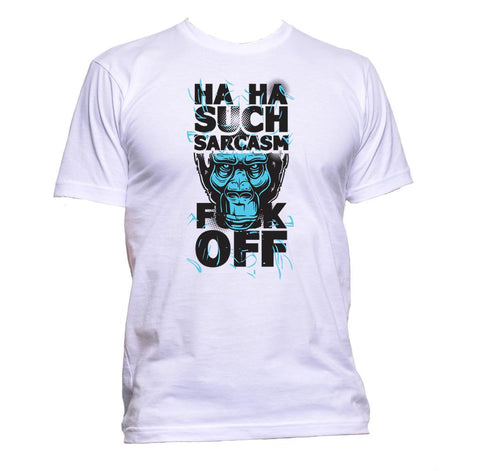 AppleWormDesign • Ha Ha Such Sarcasm Fuck Off gift - Men's T-Shirt •