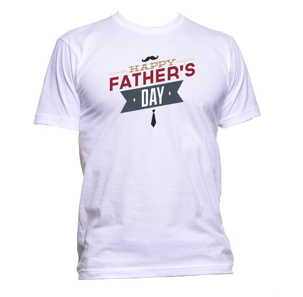 AppleWormDesign • Father's Day Happy Moustache gift - Men's T-Shirt •