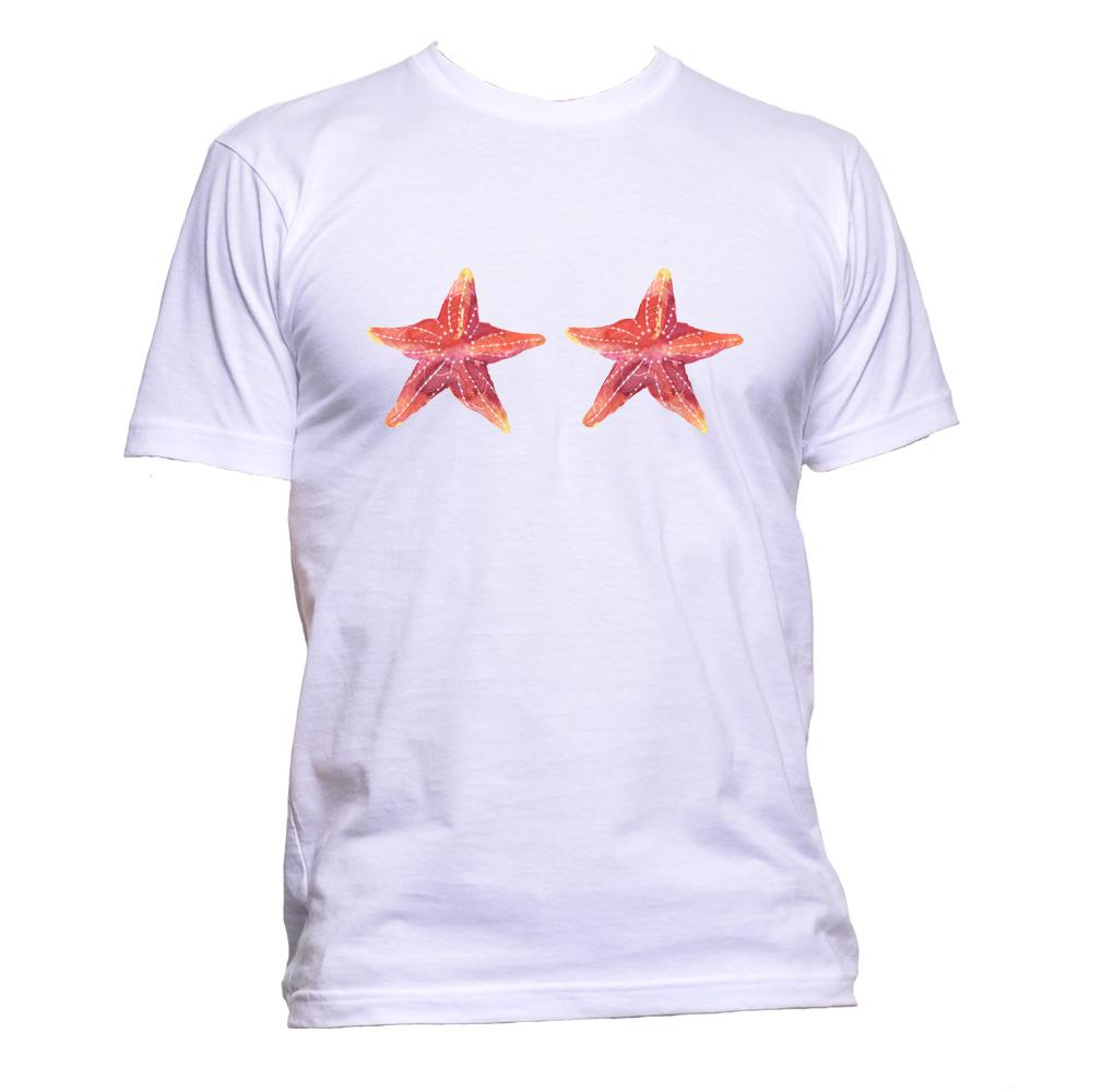 AppleWormDesign • Watercolour Sea Star Bra gift - Men's T-Shirt •