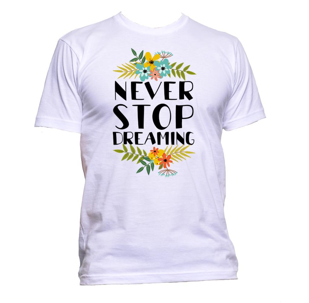 AppleWormDesign • Never Stop Dreaming With Flowers gift - Men's T-Shirt •