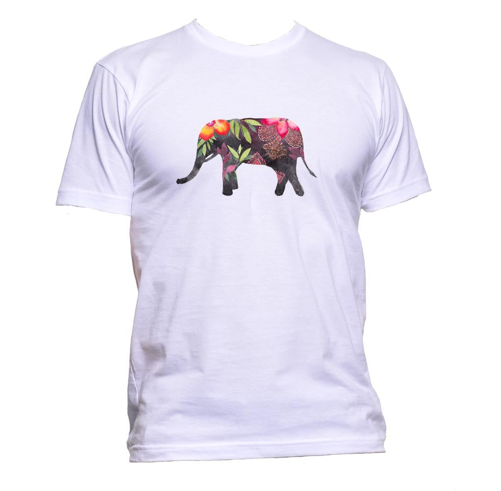 AppleWormDesign • Ethnic Painted Elephant  gift - Men's T-Shirt •