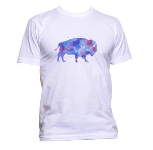 AppleWormDesign • Watercolour Purple Buffalo Drawing gift - Men's T-Shirt •