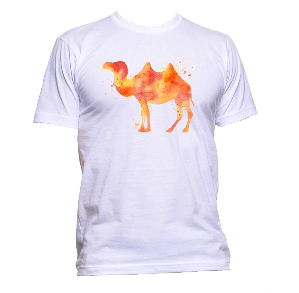 AppleWormDesign • Watercolour Camel Drawing gift - Men's T-Shirt •