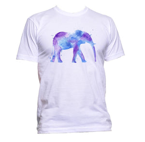 AppleWormDesign • Watercolour Purple and Blue Elephant Drawing gift - Men's T-Shirt •