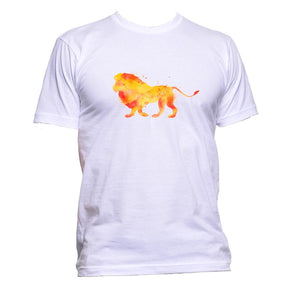 AppleWormDesign • Watercolour Lion Drawing gift - Men's T-Shirt •