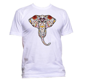 AppleWormDesign • Ethnic Elephant Art gift - Men's T-Shirt •