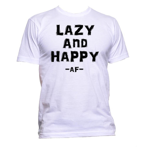 AppleWormDesign • Lazy And Happy Af gift - Men's T-Shirt •