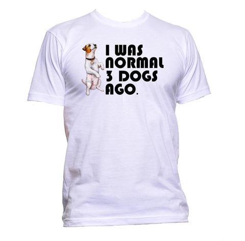 AppleWormDesign • I Was Normal 3 Dogs Ago gift - Men's T-Shirt •