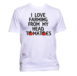 AppleWormDesign • I Love Gardening From My Head Tomatoes gift - Men's T-Shirt •