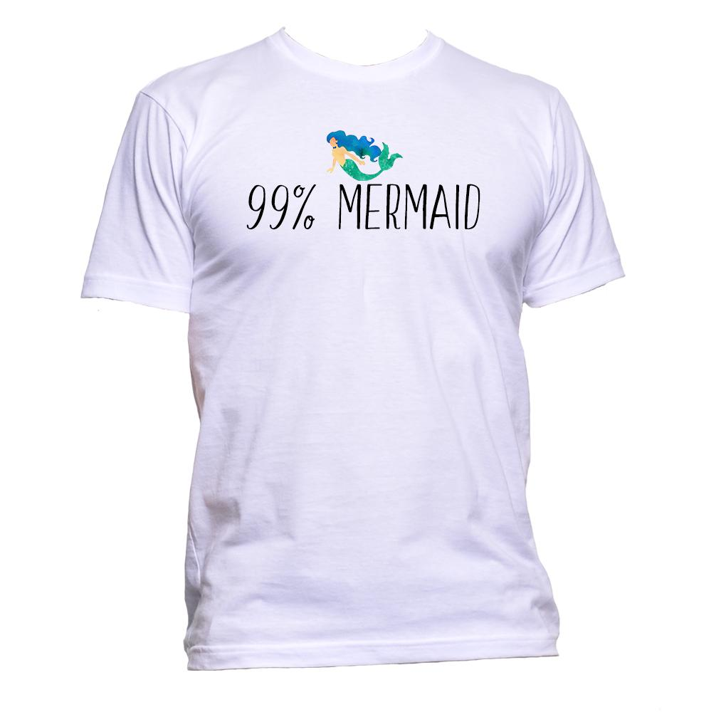 AppleWormDesign • 99% Mermaid gift - Men's T-Shirt •