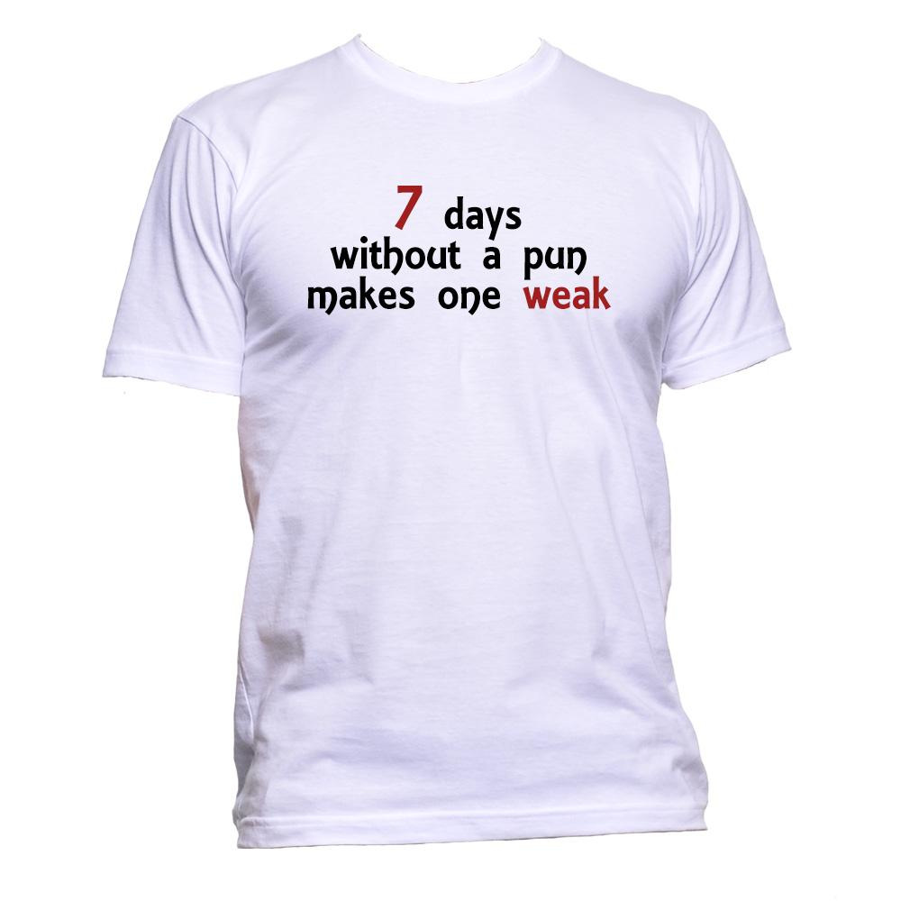 AppleWormDesign • 7 Days Without A Pun Makes One Weak Humor gift - Men's T-Shirt •
