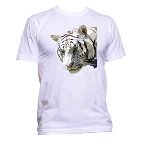 AppleWormDesign • White Tiger Head Animal gift - Men's T-Shirt •