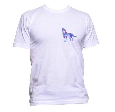 AppleWormDesign • Wolf Watercolour Purple Pocket gift - Men's T-Shirt •