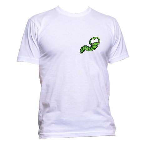 AppleWormDesign • Worm Green Coloured Pocket gift - Men's T-Shirt •