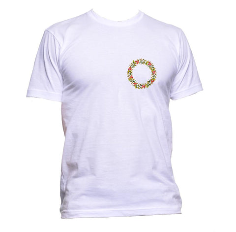 AppleWormDesign • Wreath Christmas Pocket gift - Men's T-Shirt •