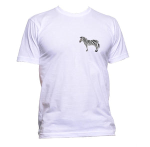 AppleWormDesign • Zebra Black And White Pocket gift - Men's T-Shirt •