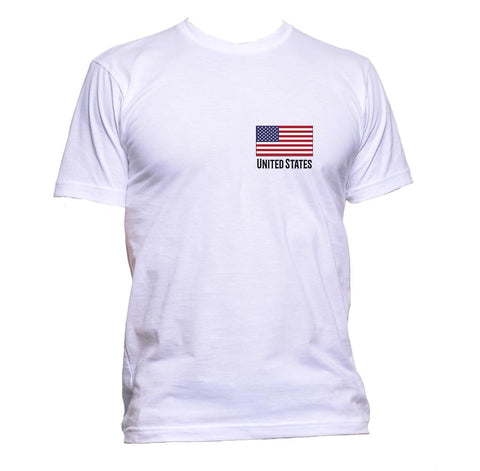 AppleWormDesign • Unite States Flag Pocket US gift - Men's T-Shirt •