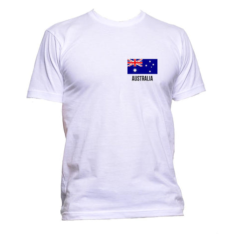 AppleWormDesign • Australia Flag Pocket gift - Men's T-Shirt •