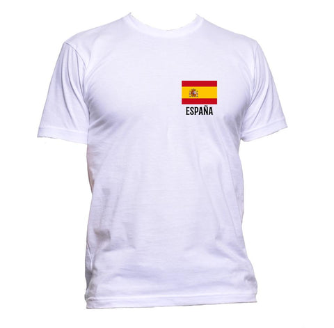 AppleWormDesign • Spain Espana Flag Pocket gift - Men's T-Shirt •