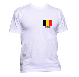 AppleWormDesign • Belgium Flag Pocket gift - Men's T-Shirt •