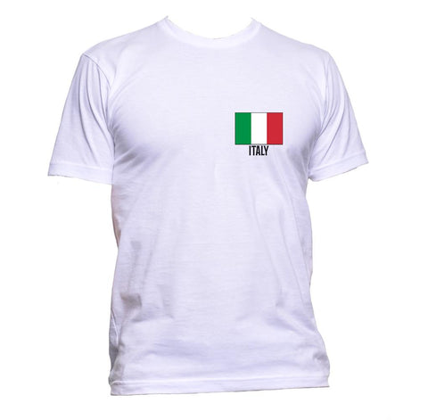 AppleWormDesign • Italy Flag Pocket Italian gift - Men's T-Shirt •