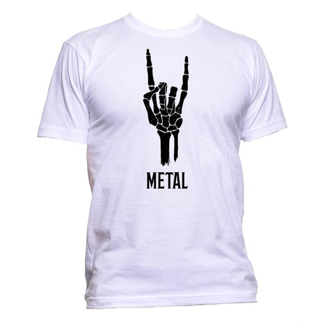 AppleWormDesign • Metal Hard Rock Sign Of The Horns gift - Men's T-Shirt •