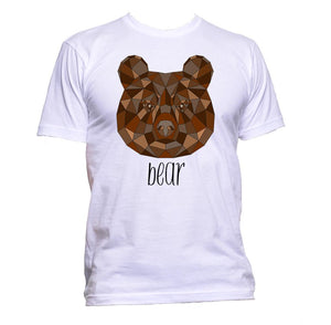 AppleWormDesign • Geometric Bear Brown Coloured Animal gift - Men's T-Shirt •