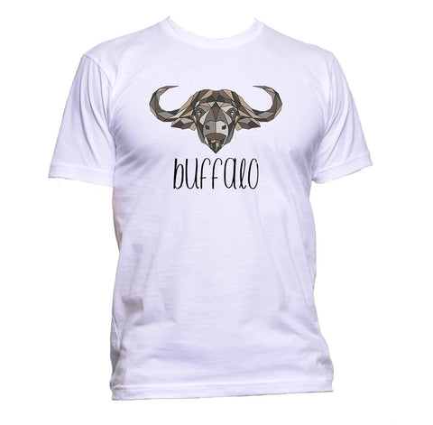 AppleWormDesign • Geometric Buffalo Grey Coloured Animal gift - Men's T-Shirt •