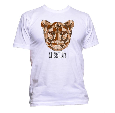 AppleWormDesign • Geometric Cheetah Brown Coloured Animal gift - Men's T-Shirt •
