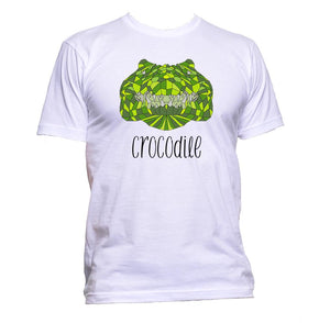 AppleWormDesign • Geometric Crocodile Green Coloured Animal gift - Men's T-Shirt •