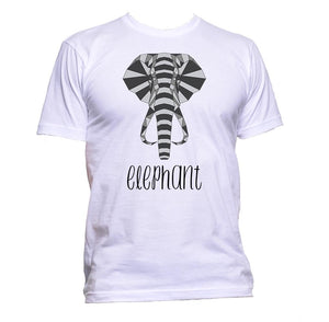 AppleWormDesign • Geometric Elephant Grey gift - Men's T-Shirt •