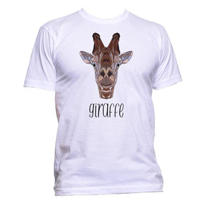 AppleWormDesign • Geometric Giraffe Coloured gift - Men's T-Shirt •