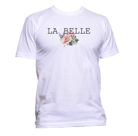AppleWormDesign • La Belle With Roses Flowers gift - Men's T-Shirt •