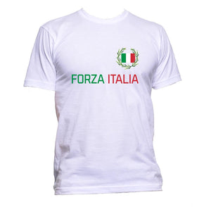 AppleWormDesign • Forza Italia Italian Flag gift - Men's T-Shirt •