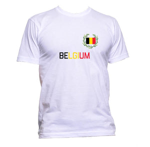 AppleWormDesign • Belgium Flag gift - Men's T-Shirt •