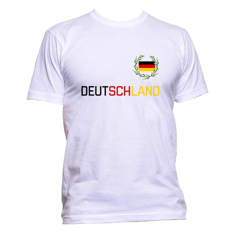 AppleWormDesign • Deutschland Germany Flag German gift - Men's T-Shirt •