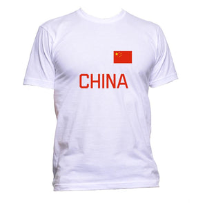 AppleWormDesign • China Flag gift - Men's T-Shirt •