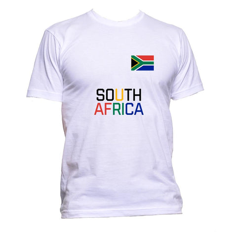 AppleWormDesign • South Africa Flag African gift - Men's T-Shirt •