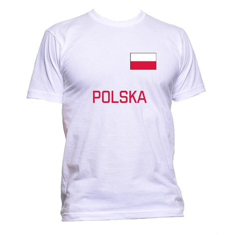 AppleWormDesign • Polska Poland Flag gift - Men's T-Shirt •