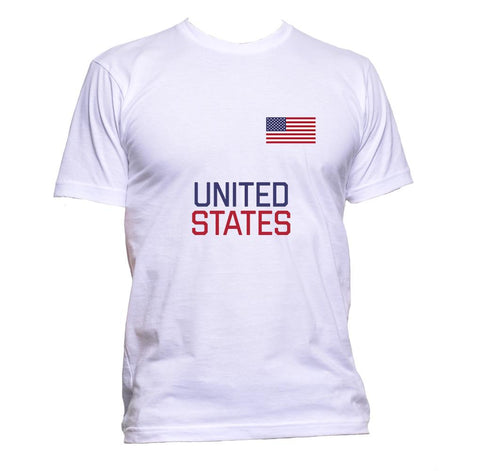 AppleWormDesign • United States Flag US gift - Men's T-Shirt •