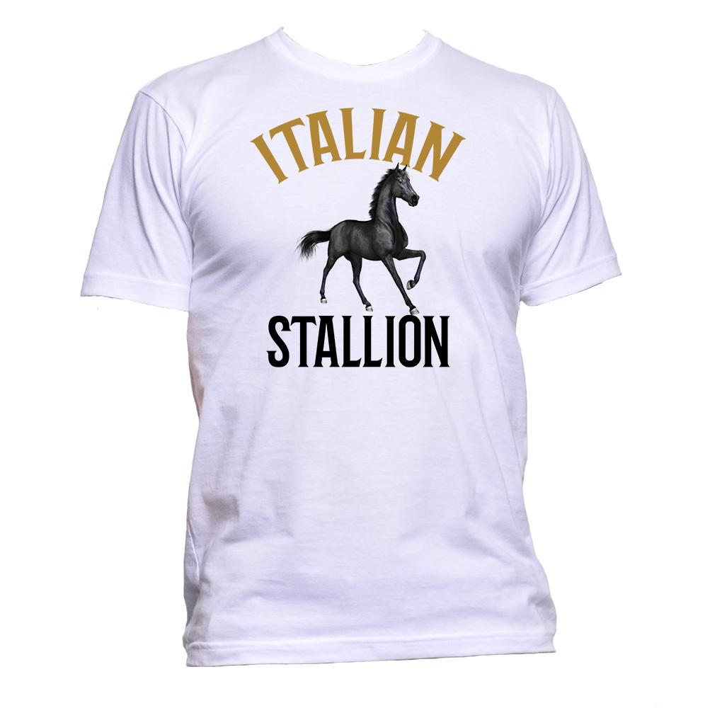 AppleWormDesign • Italian Stallion gift - Men's T-Shirt •