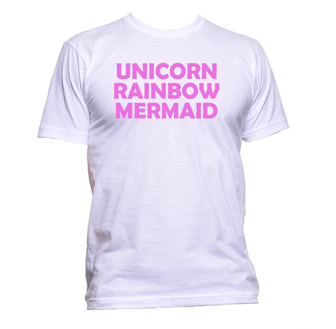 AppleWormDesign • Unicorn Rainbow Mermaid gift - Men's T-Shirt •