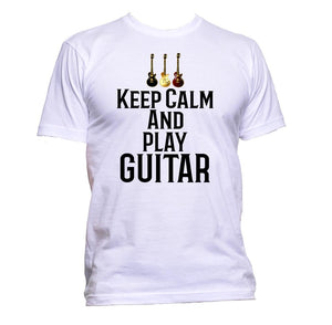 AppleWormDesign • Keep Calm And Play Guitar Slogan gift - Men's T-Shirt •