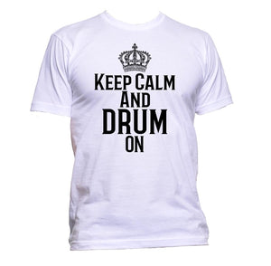 AppleWormDesign • Keep Calm And Drum On gift - Men's T-Shirt •