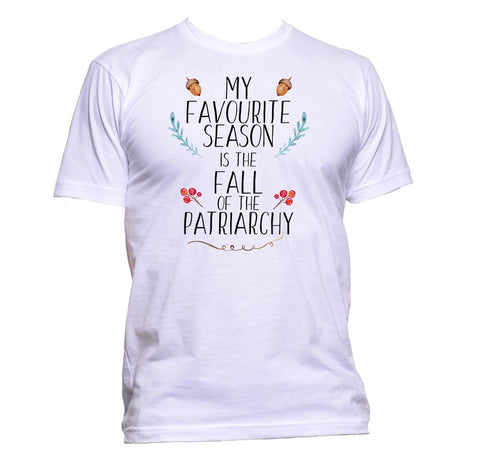 AppleWormDesign • My Favourite Season Is The Fall Of The Patriarchy gift - Men's T-Shirt •