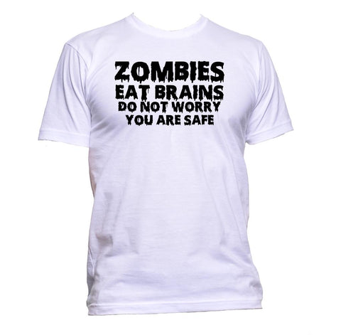 AppleWormDesign • Zombies Eat Brain Do Not Worry You Are Safe gift - Men's T-Shirt •