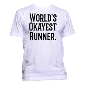 AppleWormDesign • World's Okayest Runner gift - Men's T-Shirt •