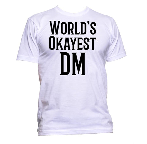 AppleWormDesign • World's Okayest DM gift - Men's T-Shirt •